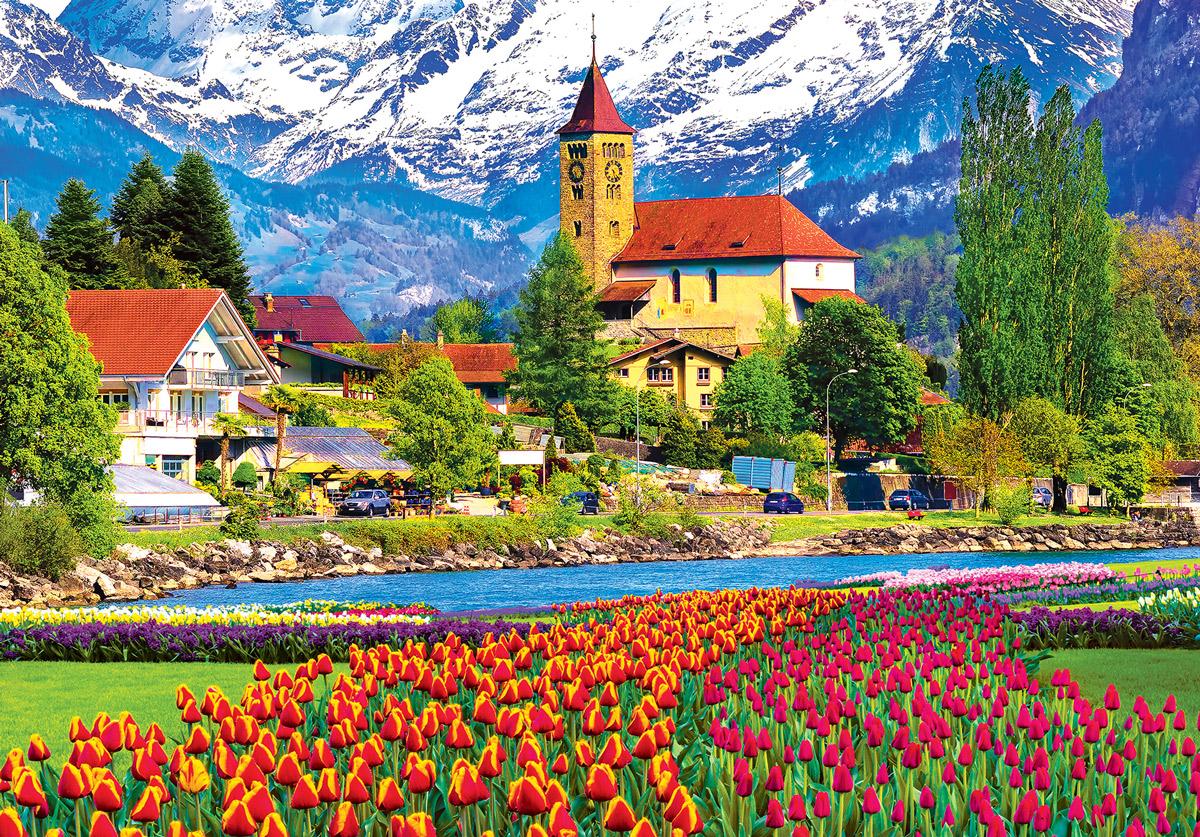 Brienz Town Flowers Flowers Jigsaw Puzzle