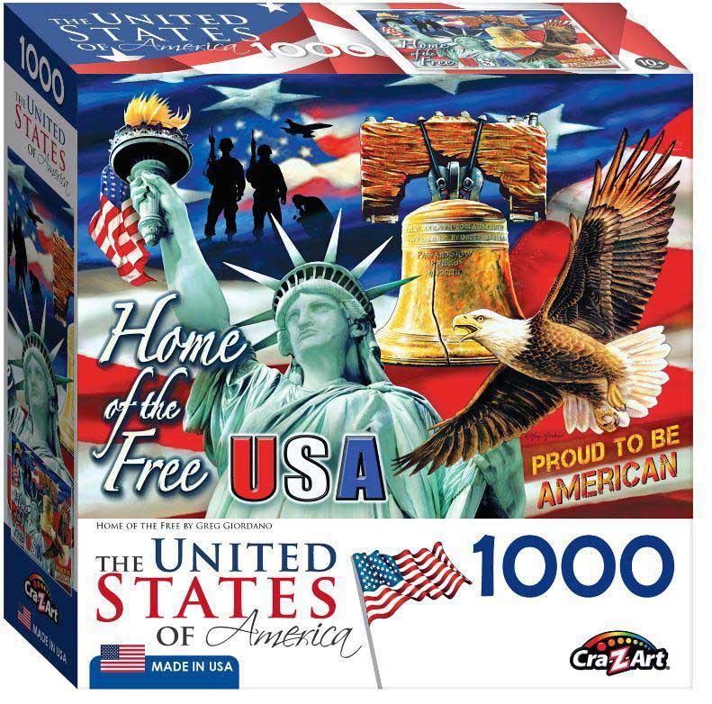 Home Of The Free Patriotic Jigsaw Puzzle