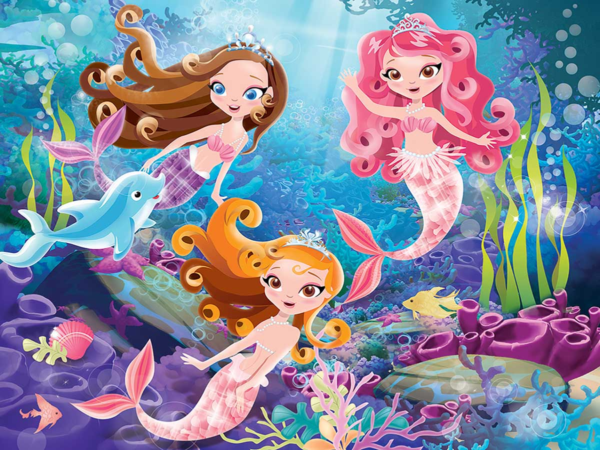 Mermaid Princess Under The Sea Jigsaw Puzzle