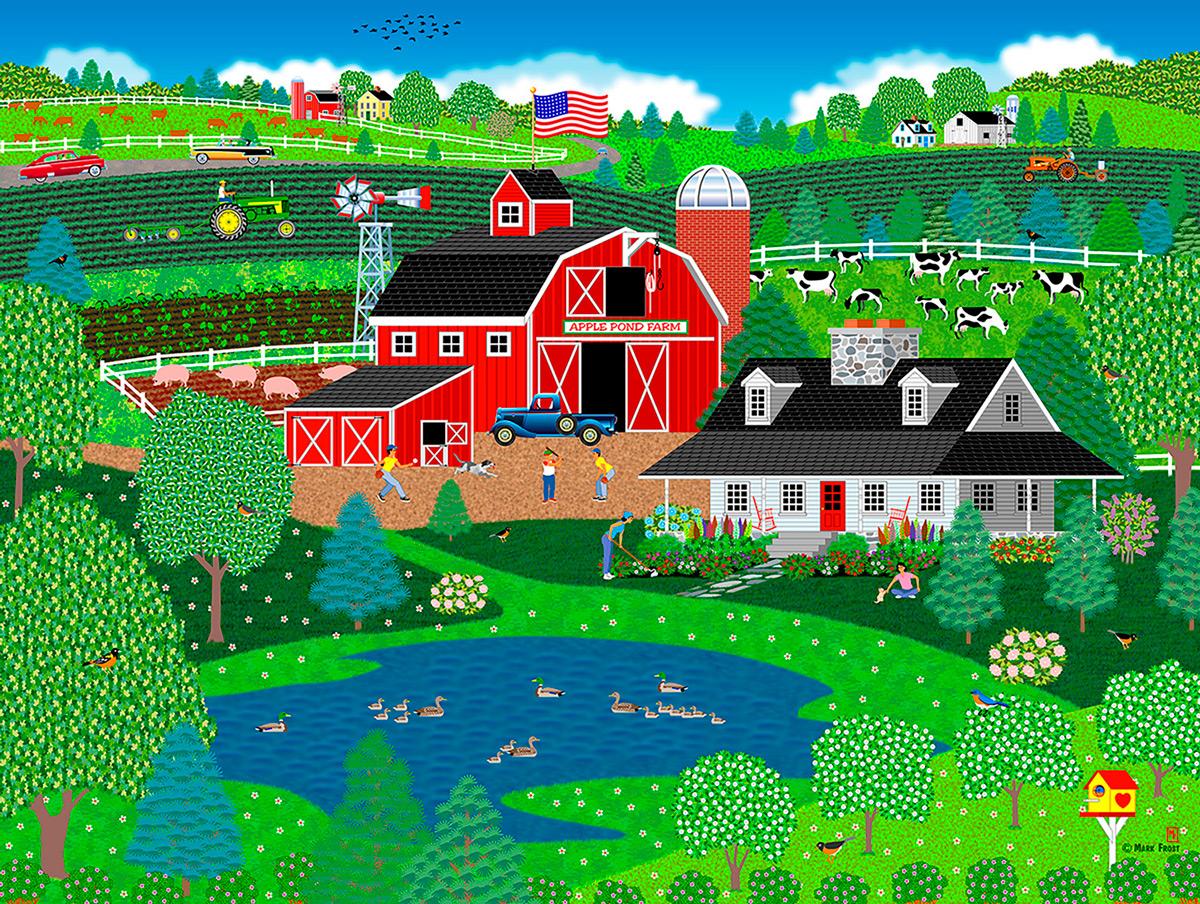 Apple Pond Spring Farm Jigsaw Puzzle