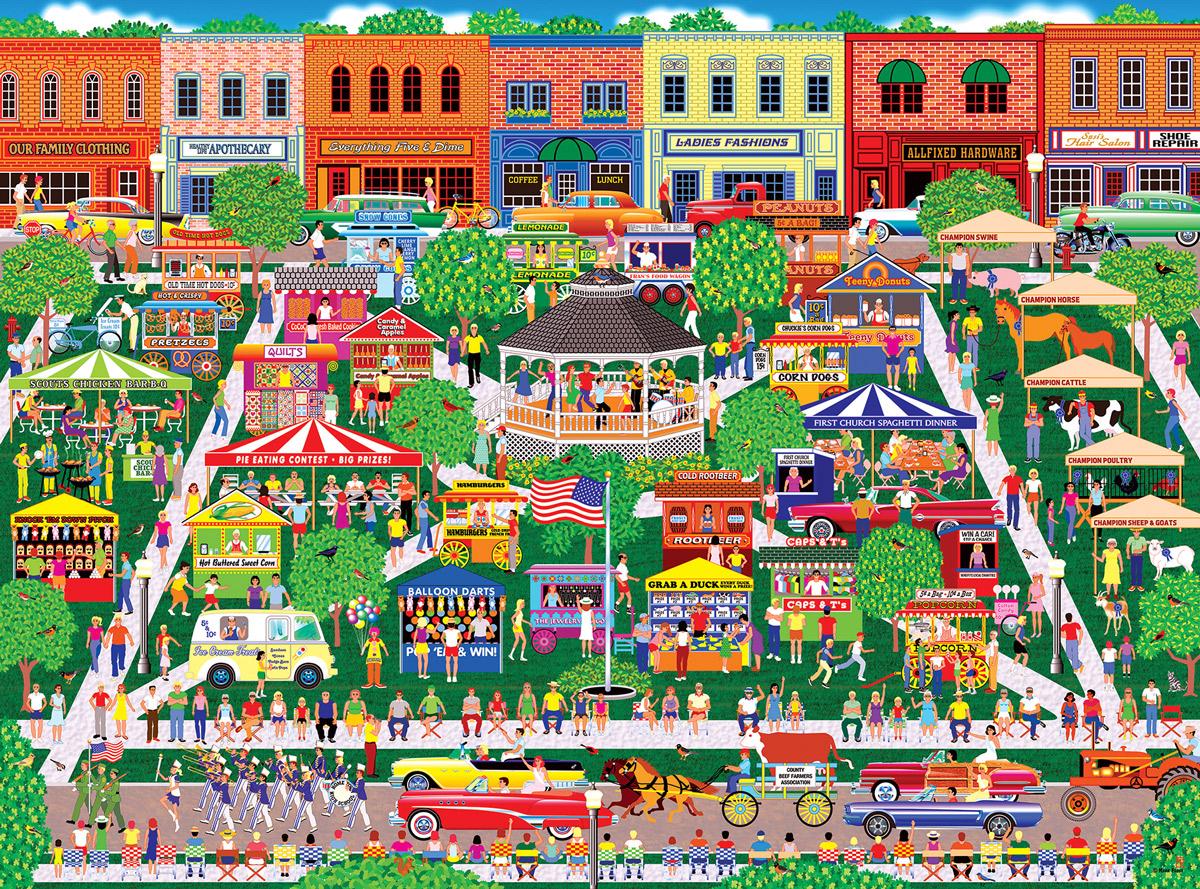 Home Country - Small Town Big Summer Fair Summer Jigsaw Puzzle