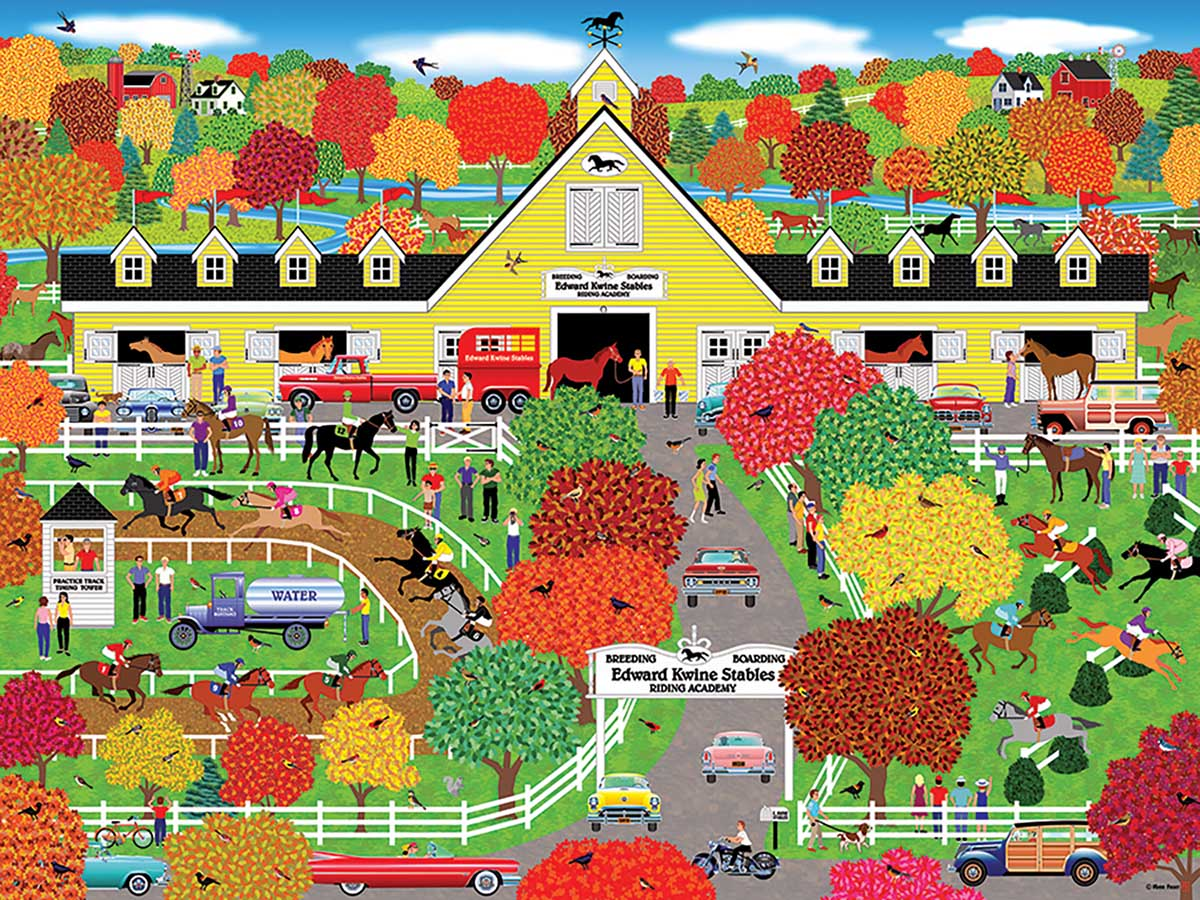 Horse Lovers Paradise Countryside Jigsaw Puzzle