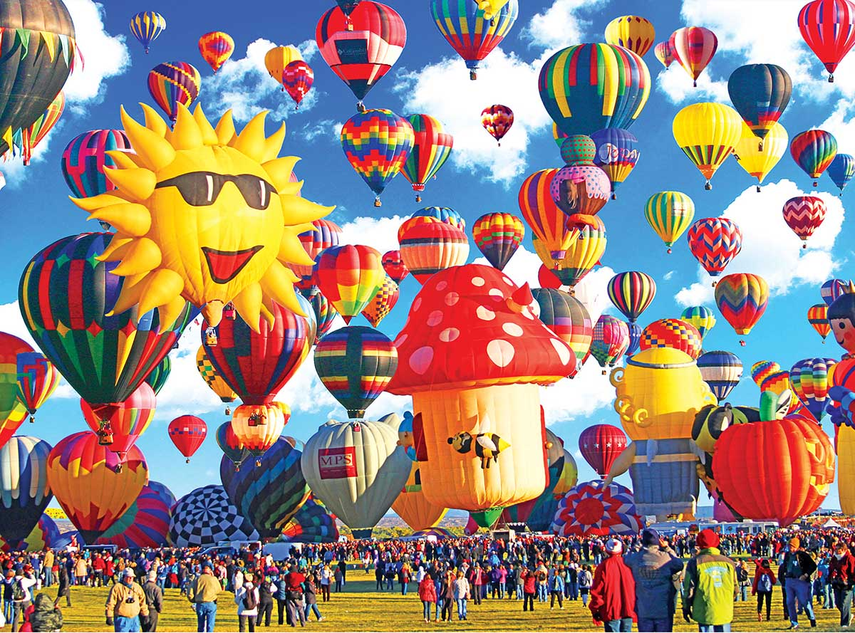 Happy Hot Air Balloons Albuquerque New Mexico Balloons Jigsaw Puzzle