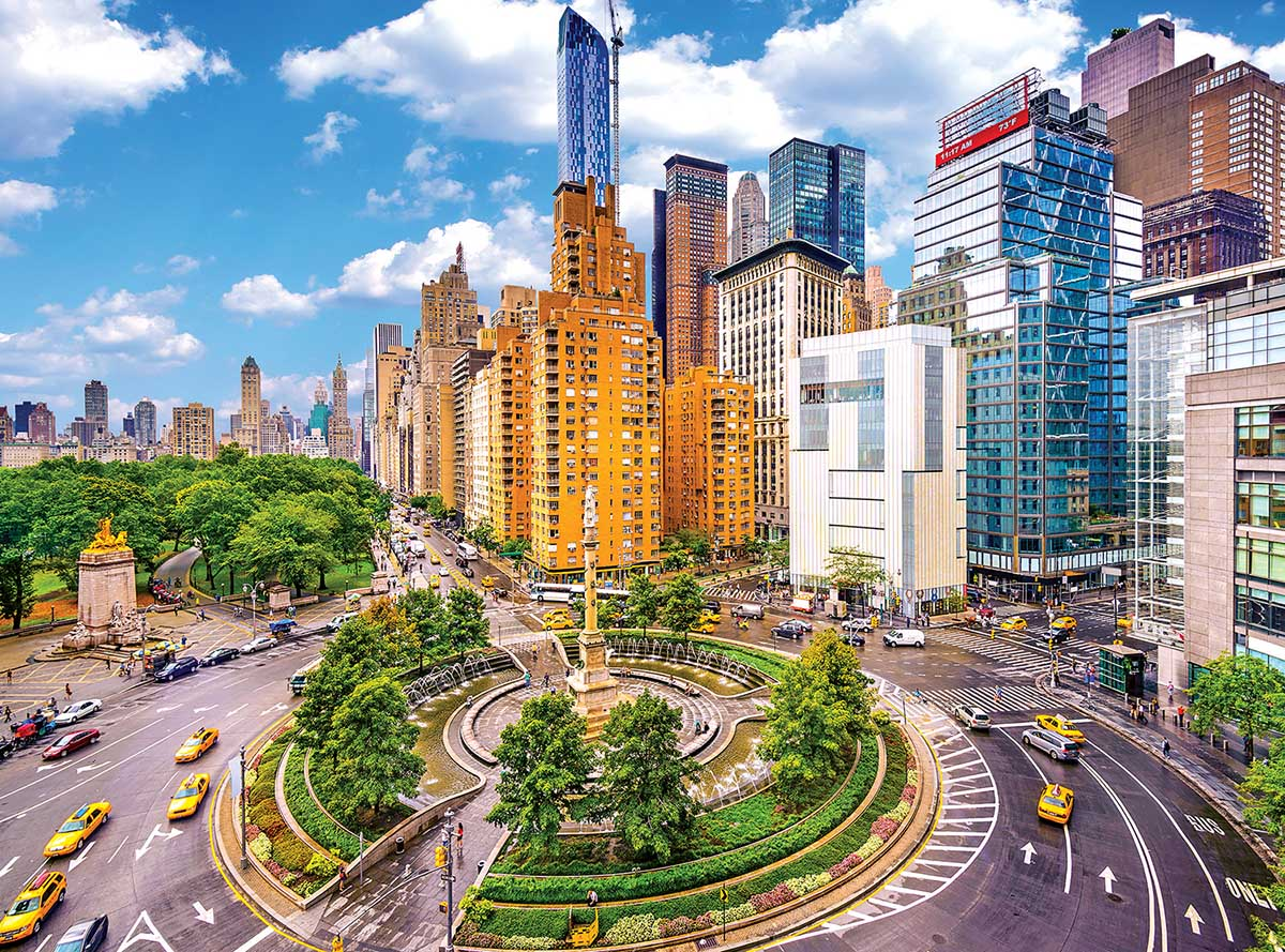 Columbus Circle New York City Photography Jigsaw Puzzle