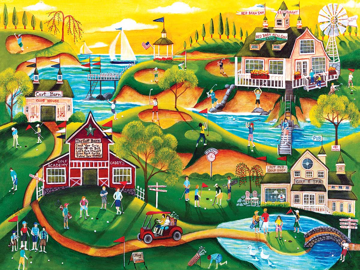 Red Barn Hill Golf Resort - Scratch and Dent Sports Jigsaw Puzzle