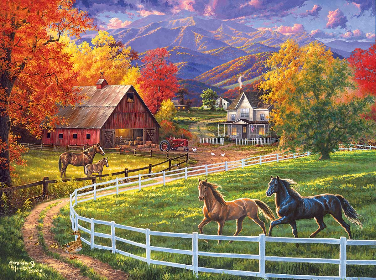 Horse Valley Farm Horses Jigsaw Puzzle