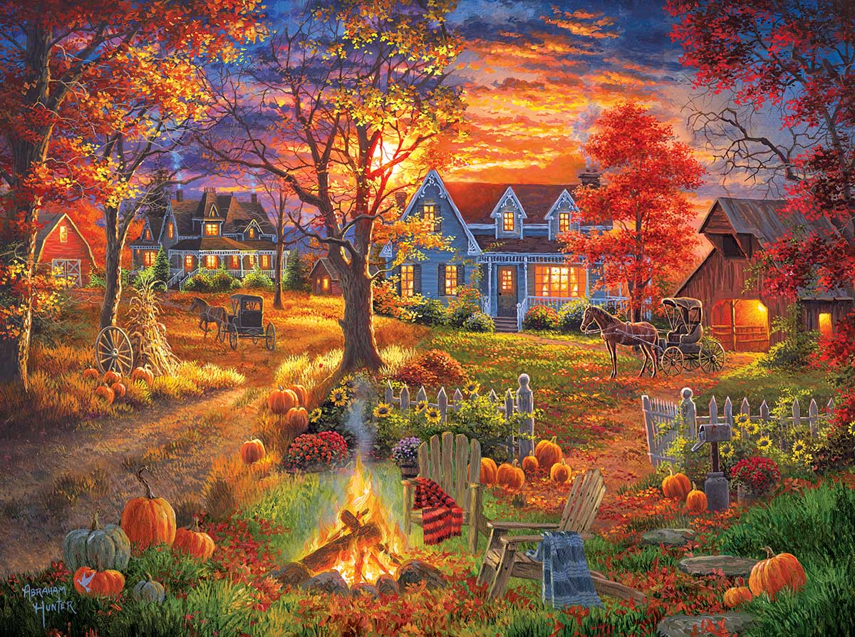 Autumn Village - Scratch and Dent Fall Jigsaw Puzzle
