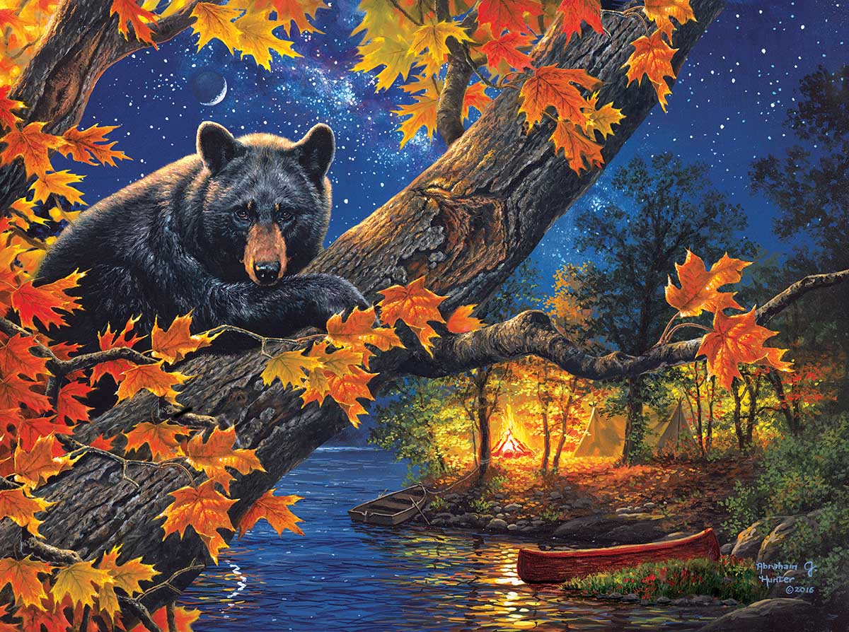 Bear Camp Fall Jigsaw Puzzle