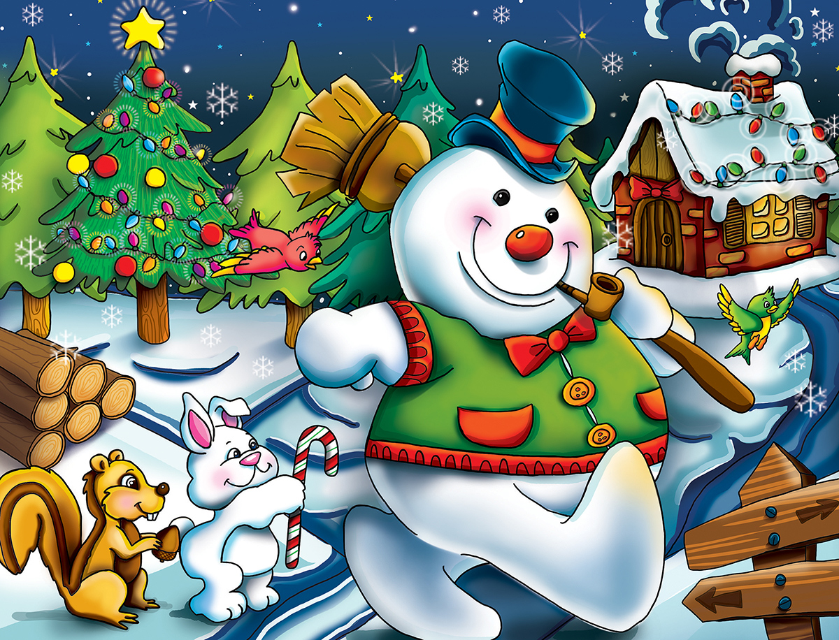 Holiday Time Snowman Snowman Jigsaw Puzzle
