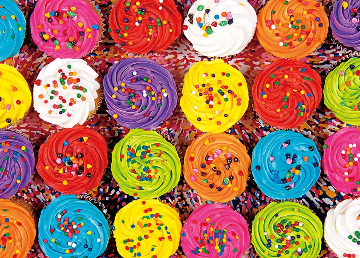 Cupcakes with Sprinkles Sweets Jigsaw Puzzle