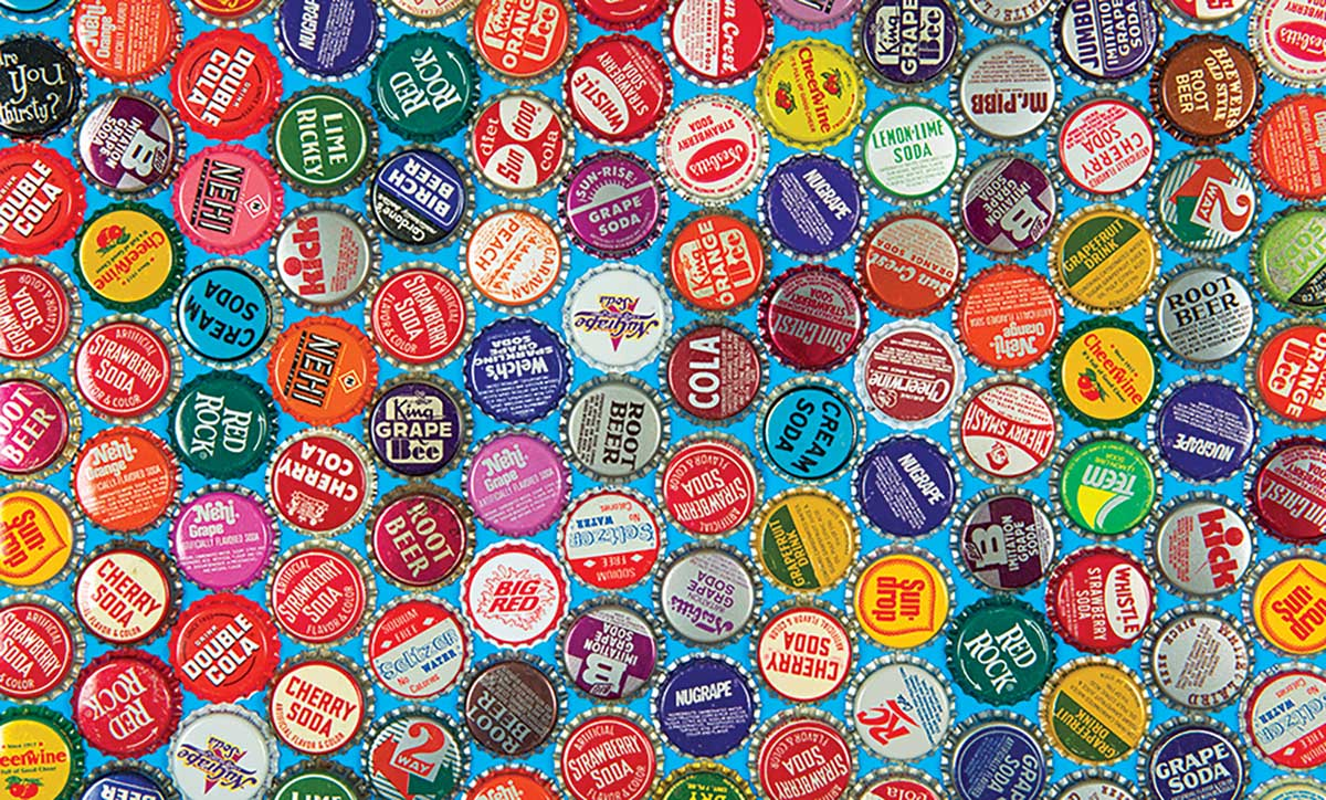 Collectible Vintage Soda Bottle Caps Nostalgic / Retro Jigsaw Puzzle