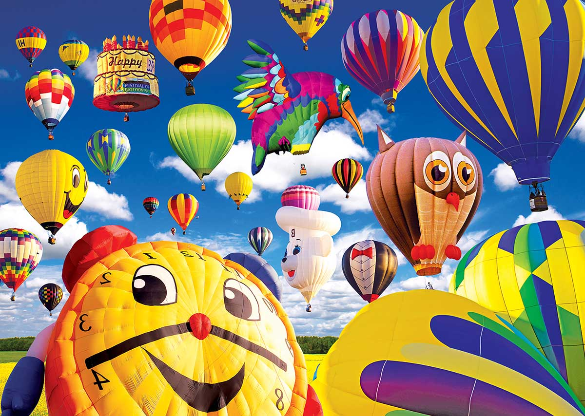 Happy Shaped Balloons Balloons Jigsaw Puzzle