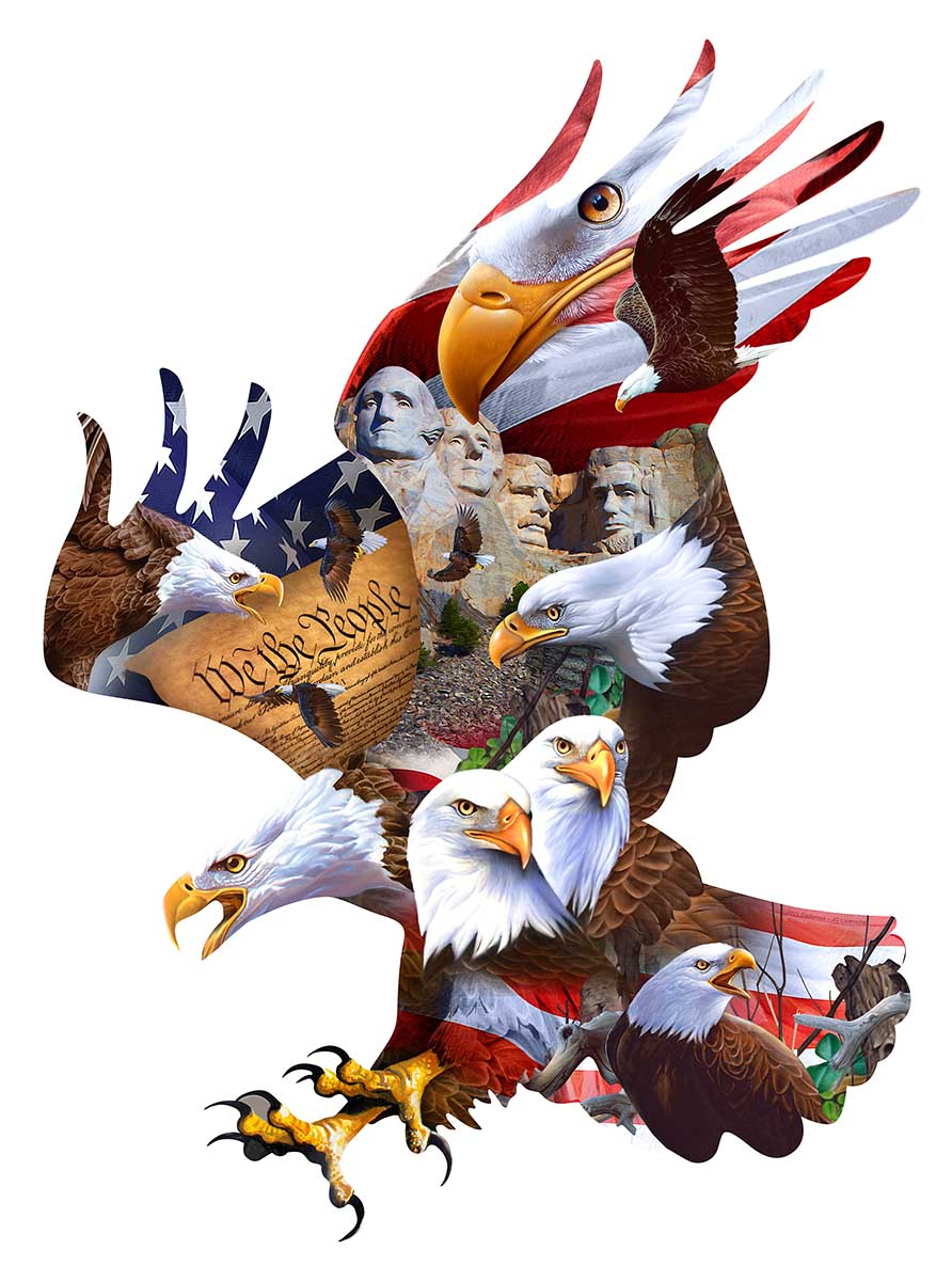 Great American Eagles Eagles Shaped Puzzle