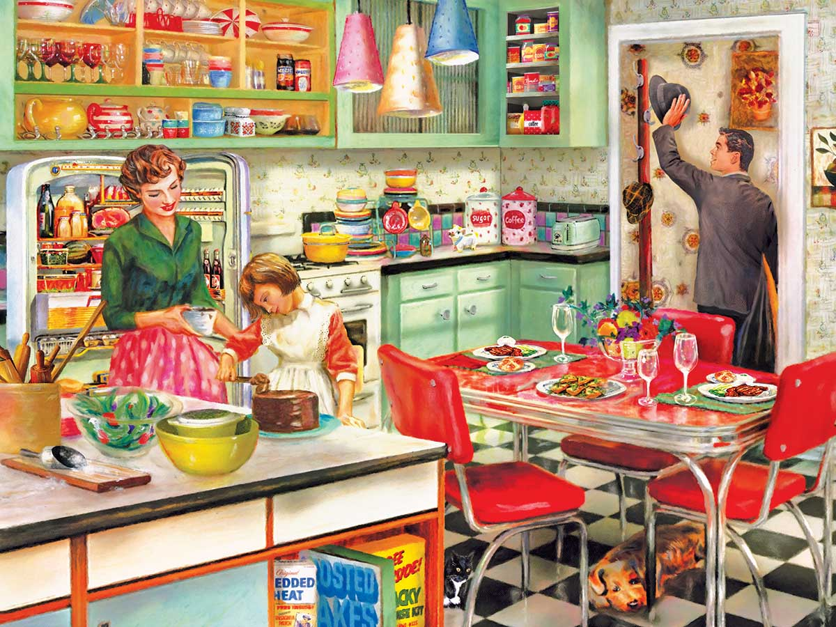Baking With Mom People Jigsaw Puzzle