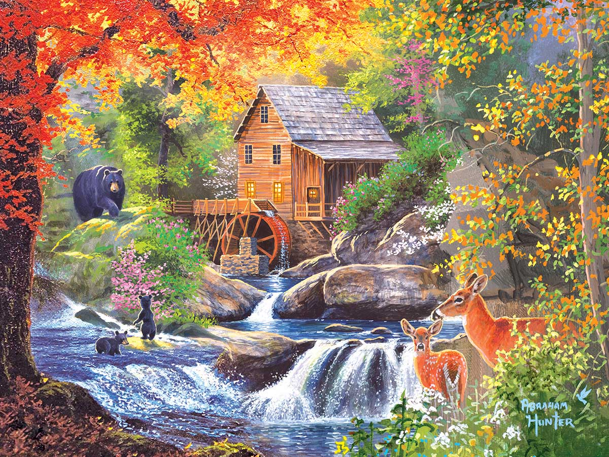 Spring Mill Fall Jigsaw Puzzle