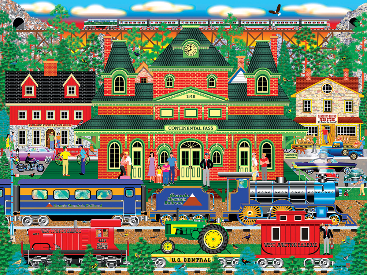 Mountain Rail Holiday Jigsaw Puzzle