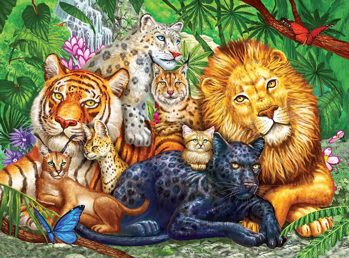 Big Cats Cats Jigsaw Puzzle