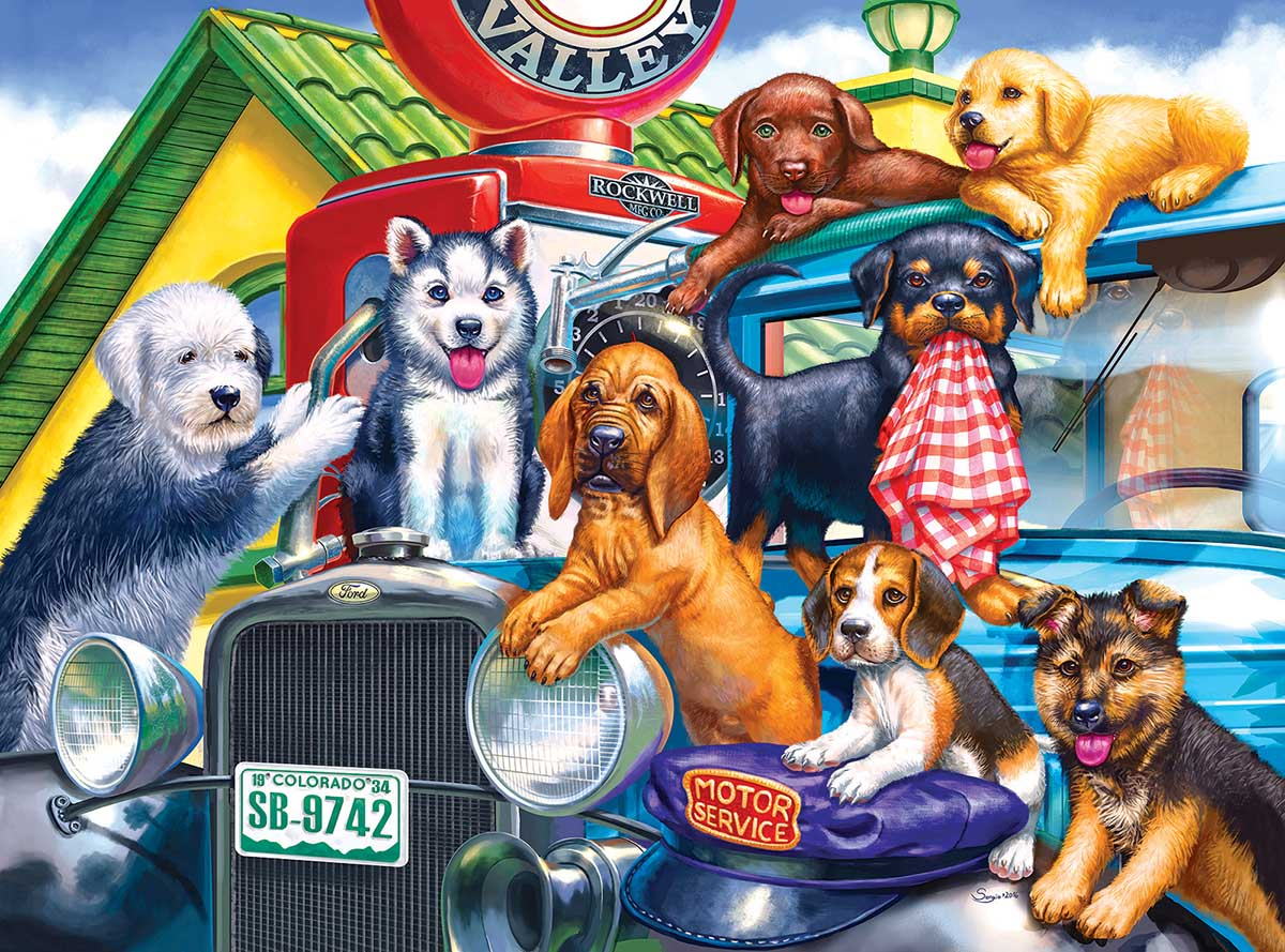 Station Attendants Dogs Jigsaw Puzzle