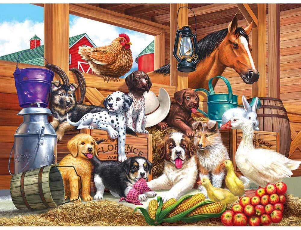 Barnyard Puppy Pals Animals Jigsaw Puzzle