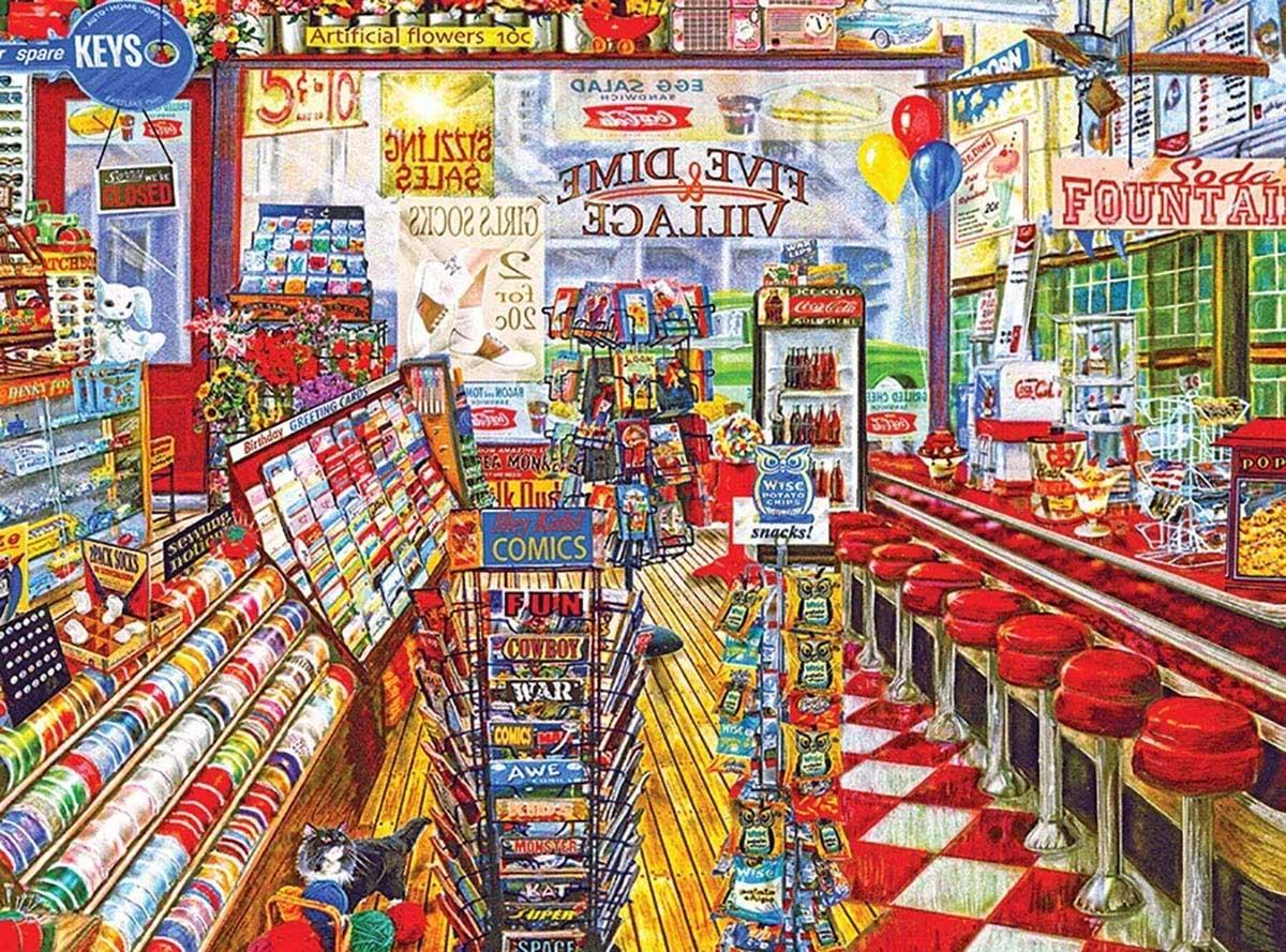The Local Five And Dime 1000 Nostalgic / Retro Jigsaw Puzzle