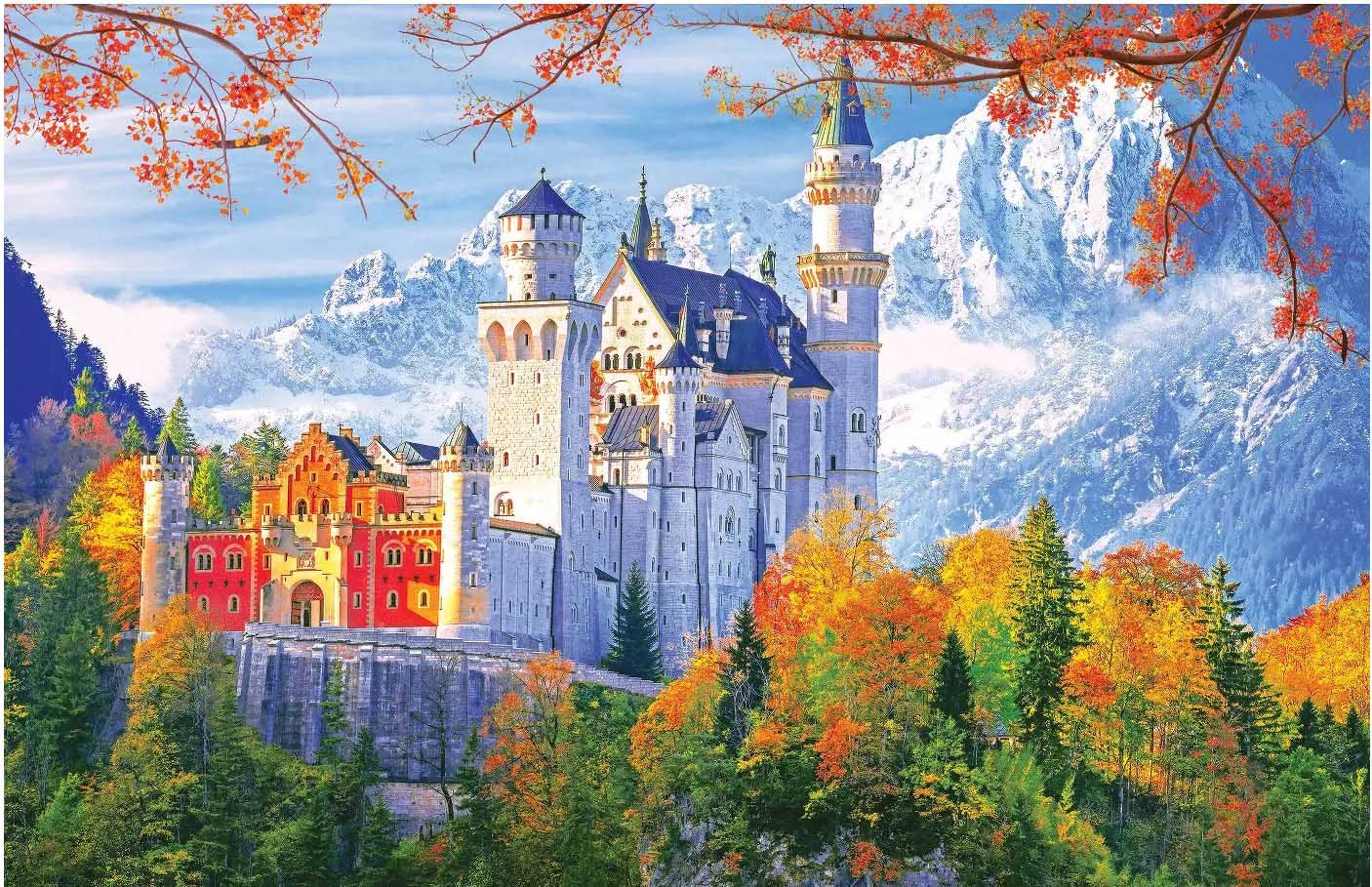 KODAK Premium Puzzles - Neuschwanstein Castle Castles Jigsaw Puzzle