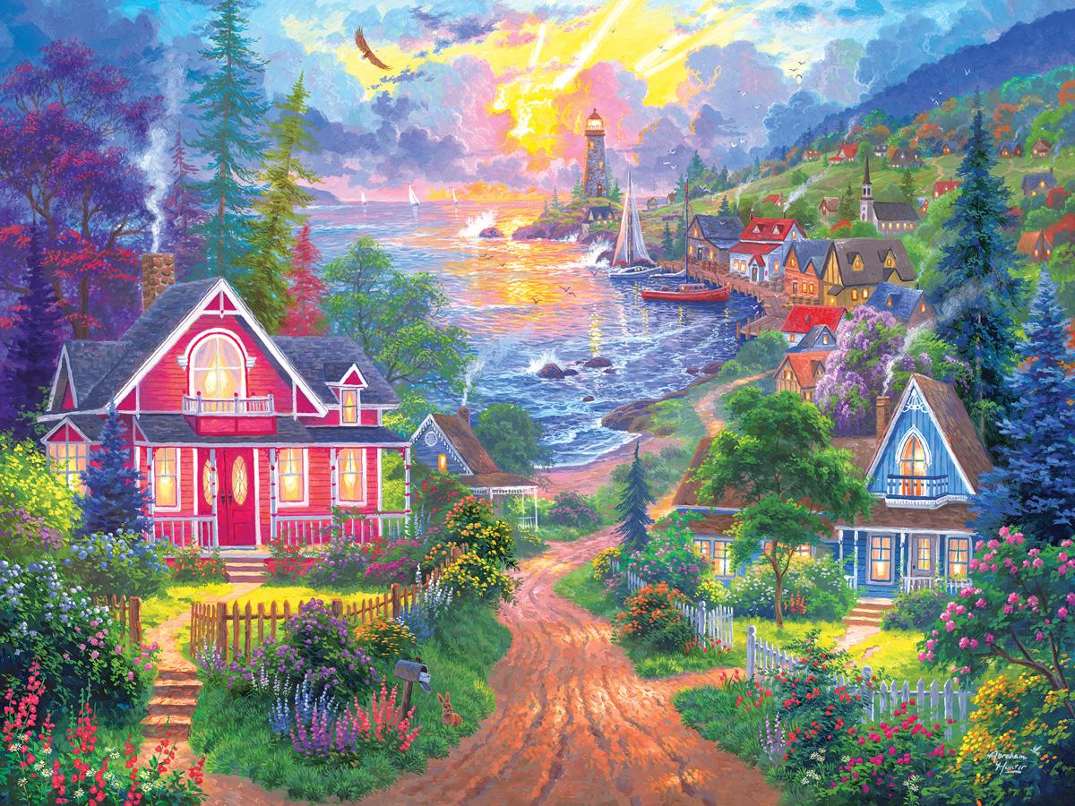 Coastal Living Seascape / Coastal Living Jigsaw Puzzle
