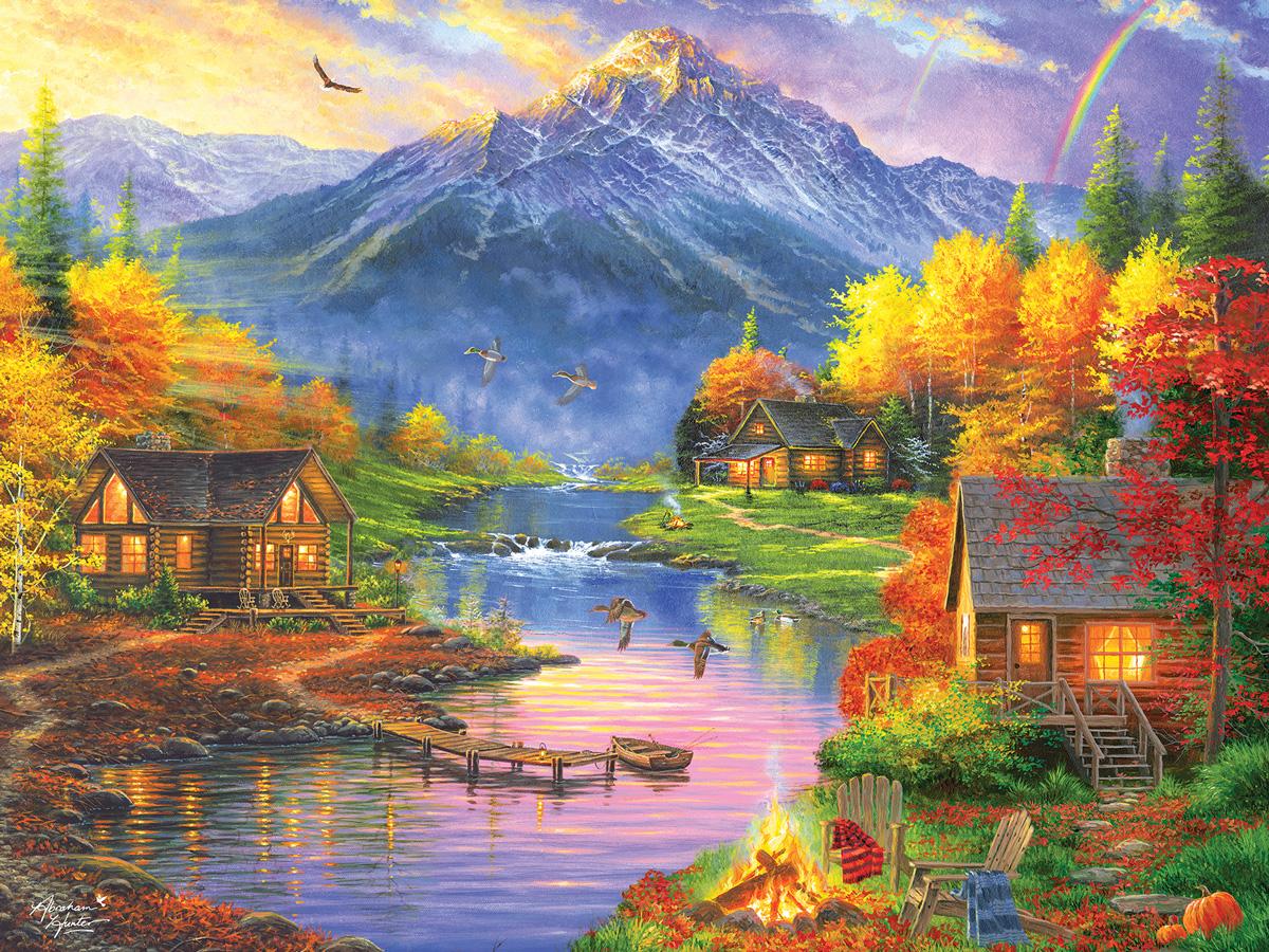 Mountain Retreat Mountains Jigsaw Puzzle