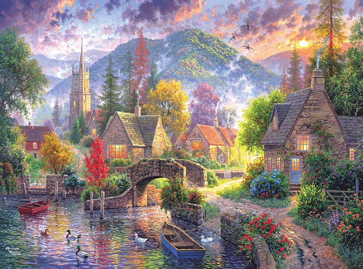 Mountain Village Mountains Jigsaw Puzzle