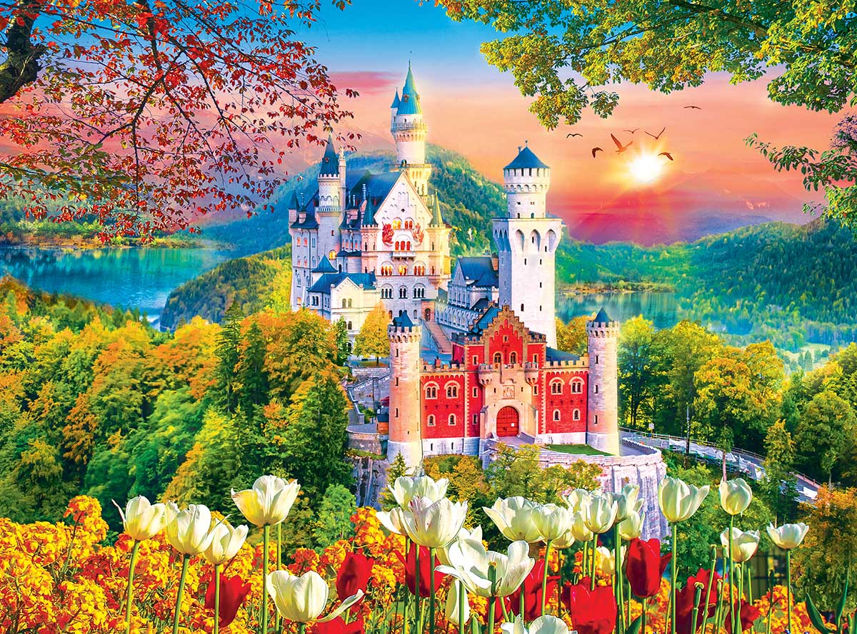 Famous Neuschwanstein Medieval Castle Germany Castles Jigsaw Puzzle