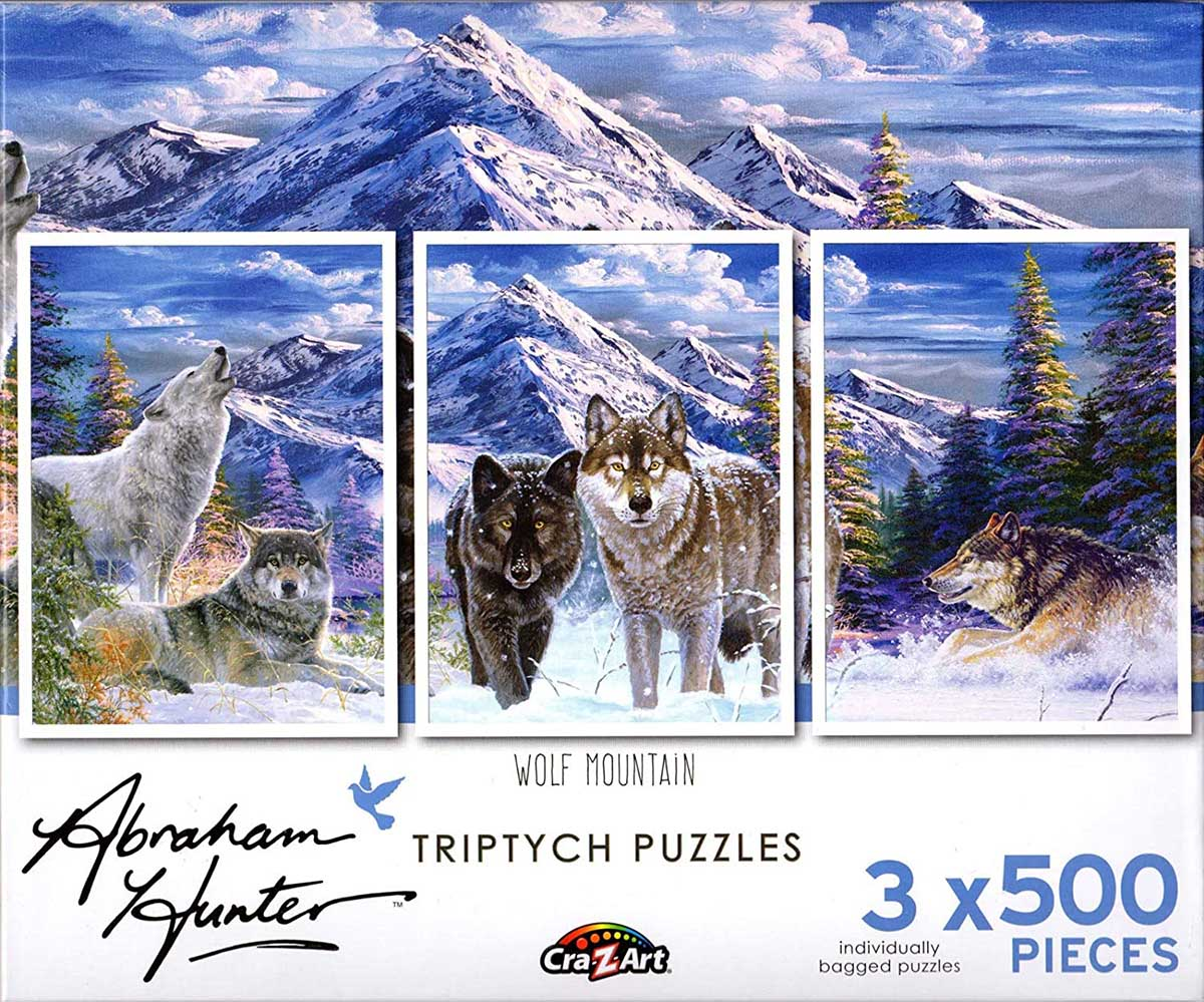 Wolf Mountain Wolves Jigsaw Puzzle