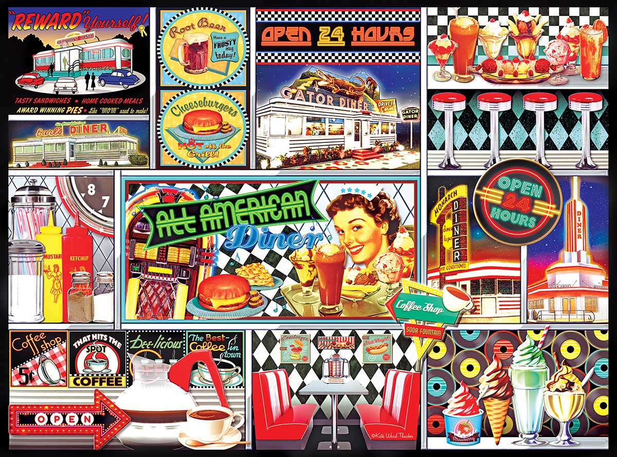 50's Retro Collage Nostalgic / Retro Jigsaw Puzzle