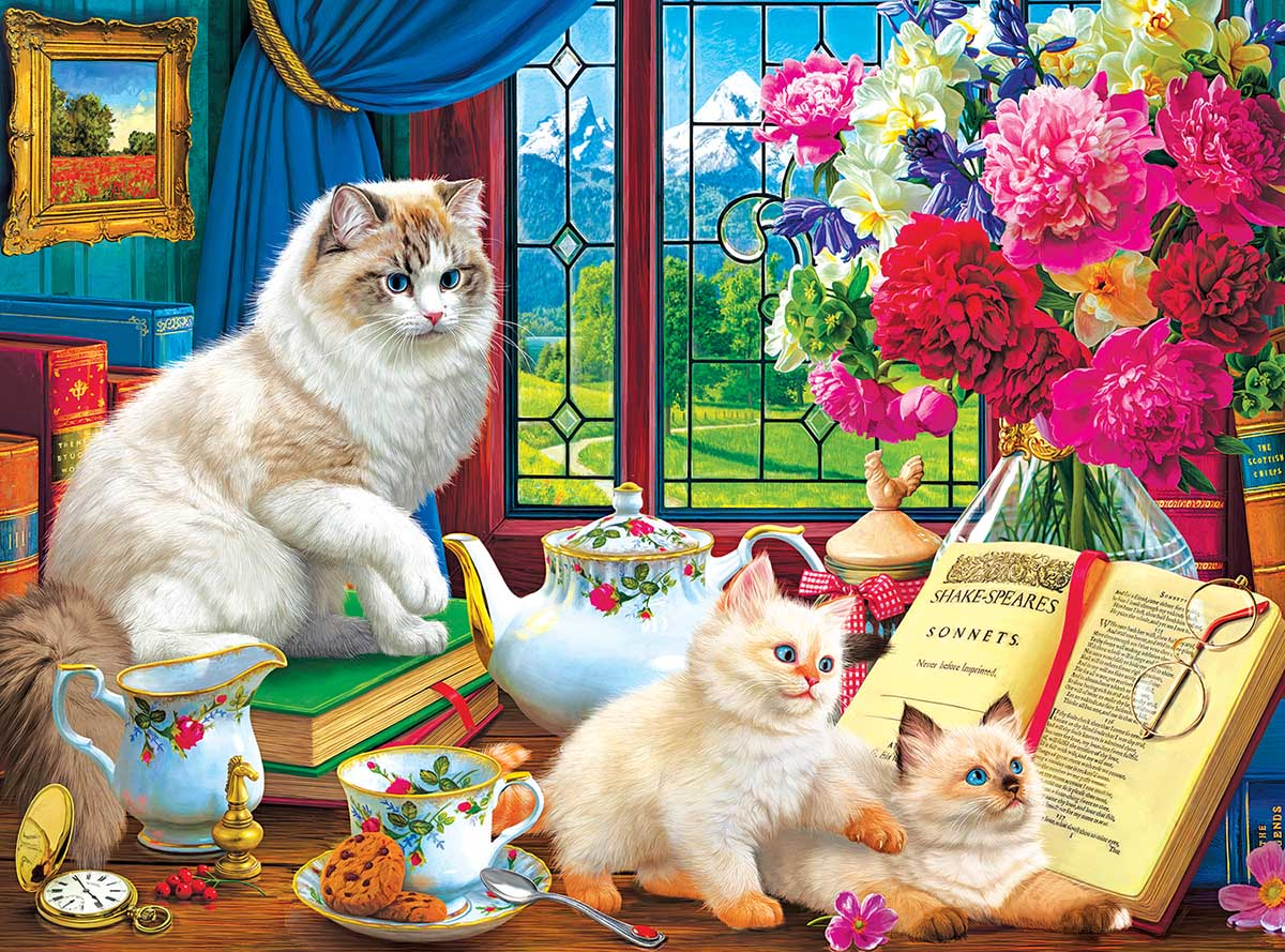 Afternoon Lessons Cats Jigsaw Puzzle