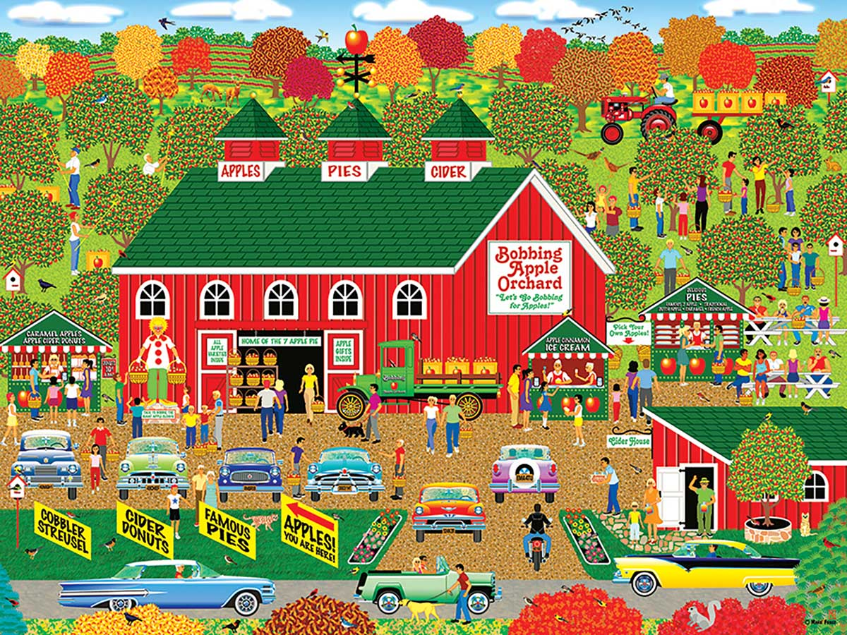Bobbing Apple Orchard Farm Countryside Jigsaw Puzzle