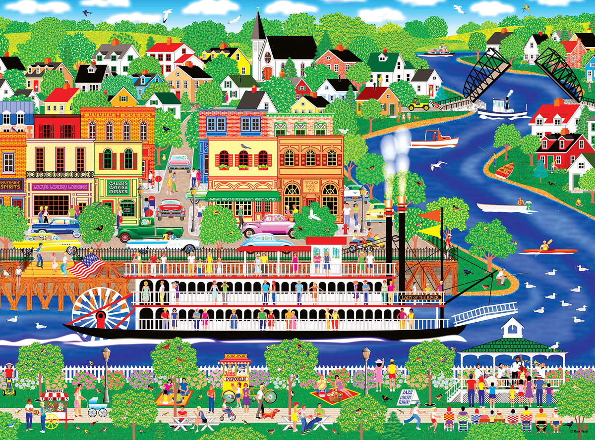Lady of the River Boats Jigsaw Puzzle