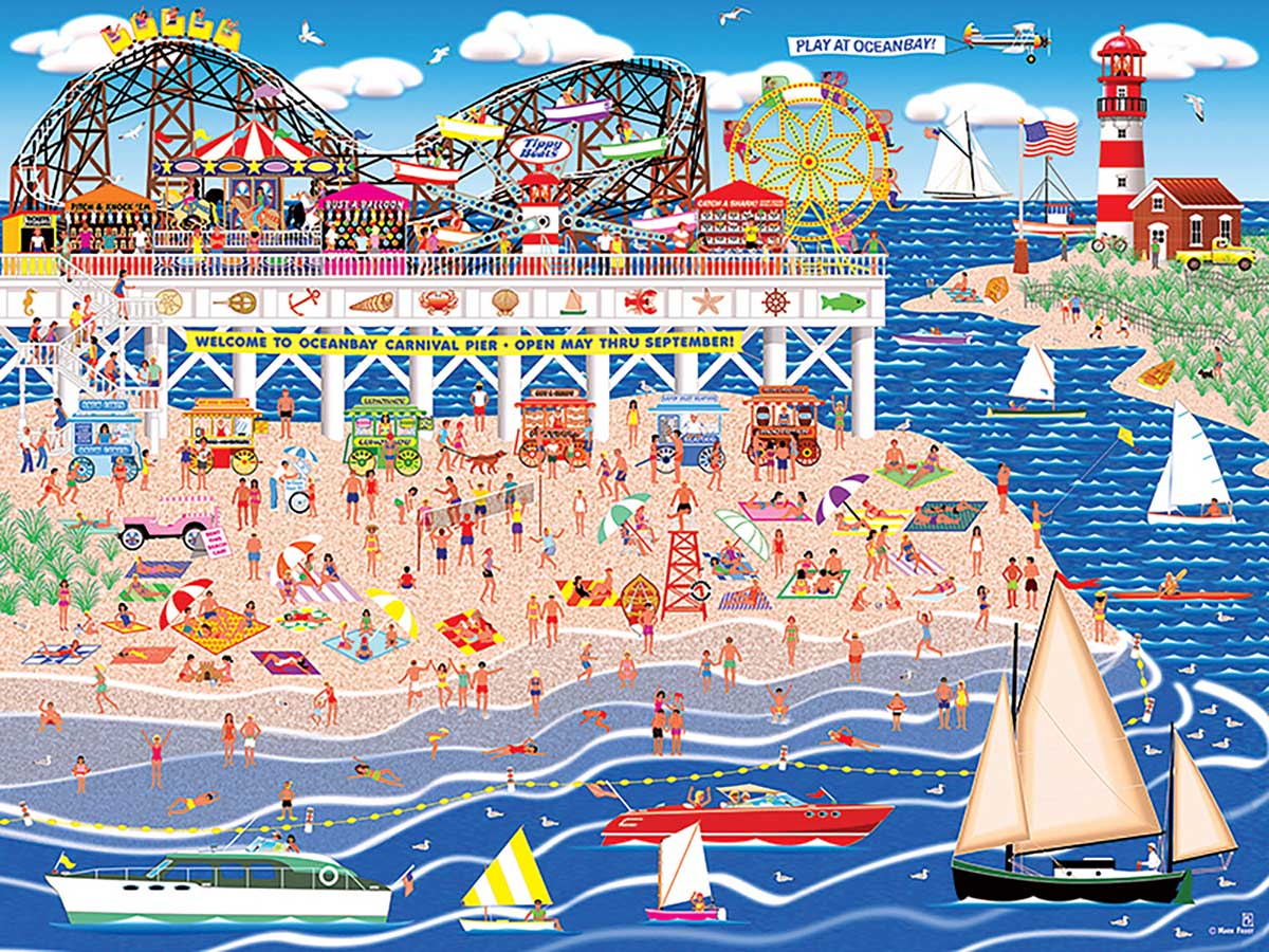 Oceanbay Carnival Pier Beach Jigsaw Puzzle