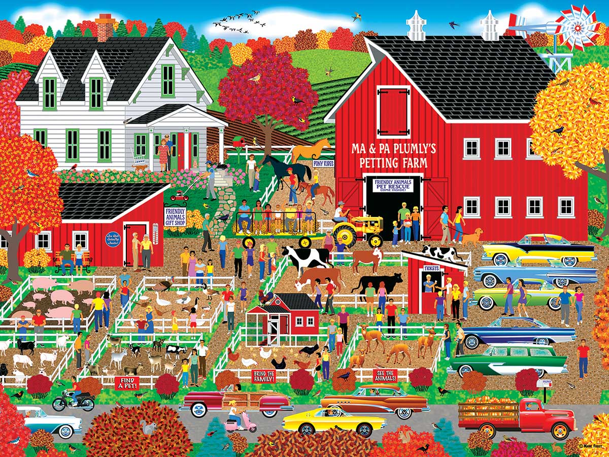 Plumly's Petting Farm Farm Jigsaw Puzzle