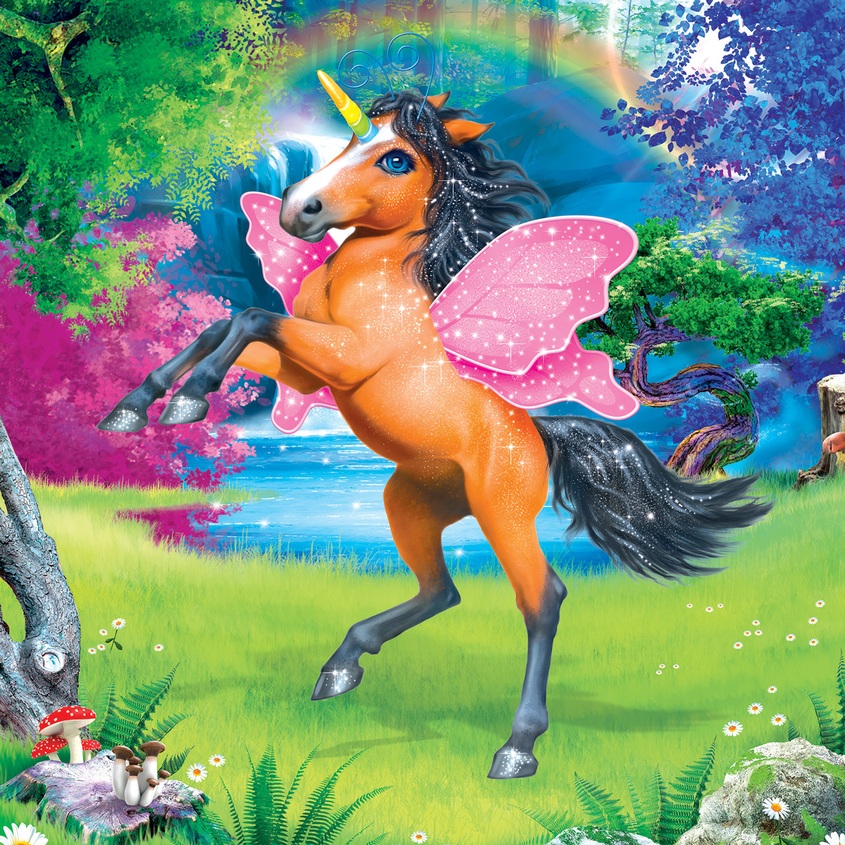 Unicorn 2 Animals Jigsaw Puzzle