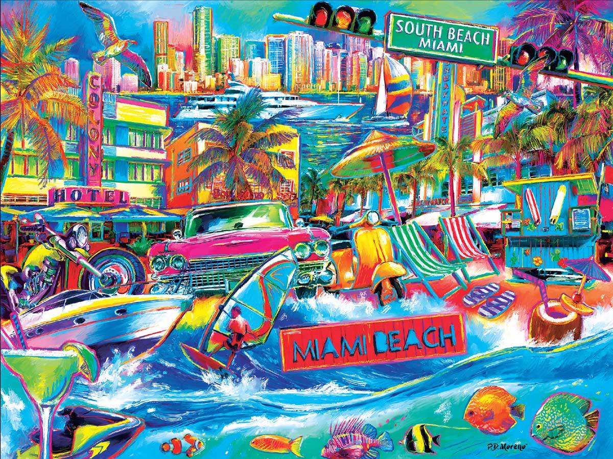 I Heart South Beach Travel Jigsaw Puzzle