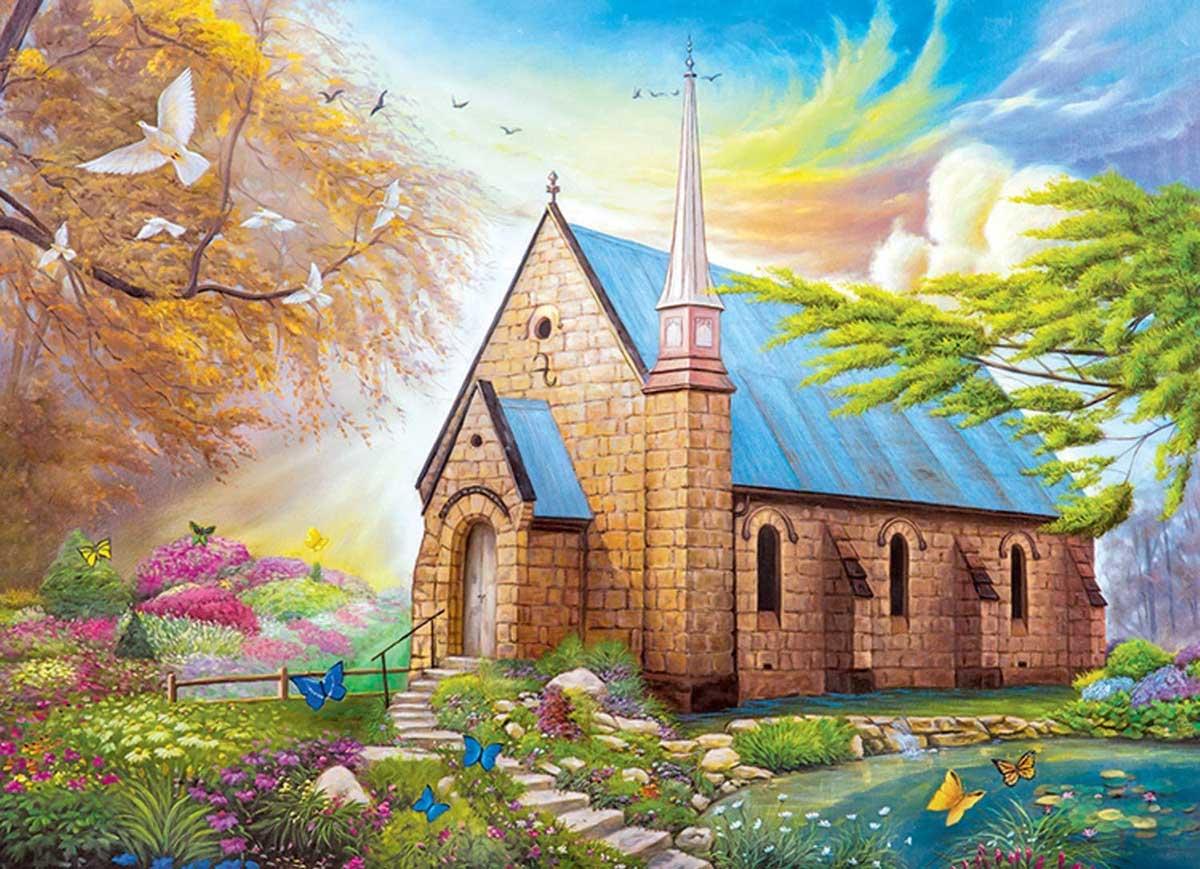 Serenity Church Religious Jigsaw Puzzle