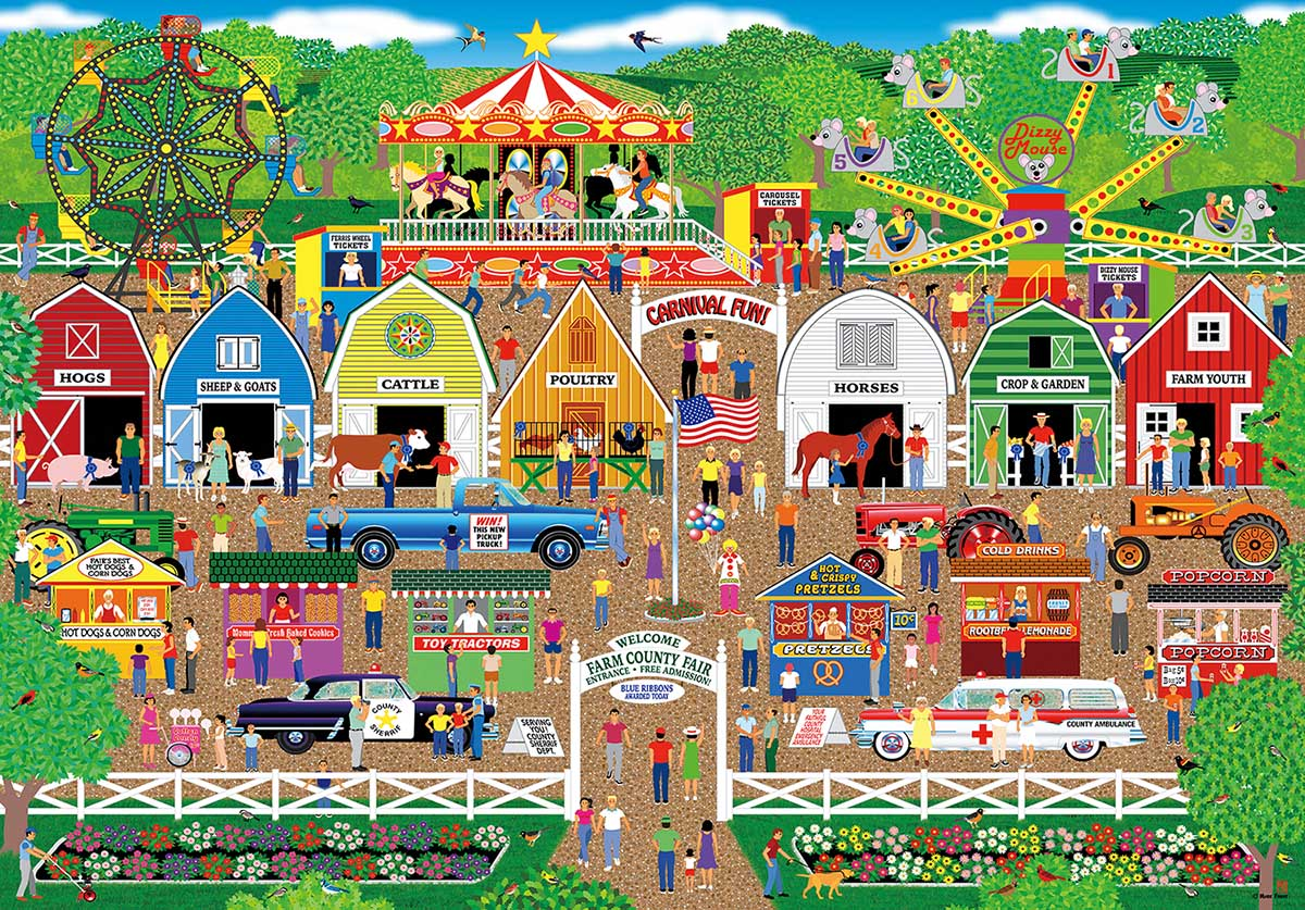 Farm County Fair Countryside Jigsaw Puzzle