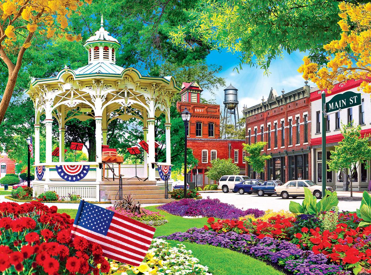 Main Street, USA Street Scene Jigsaw Puzzle