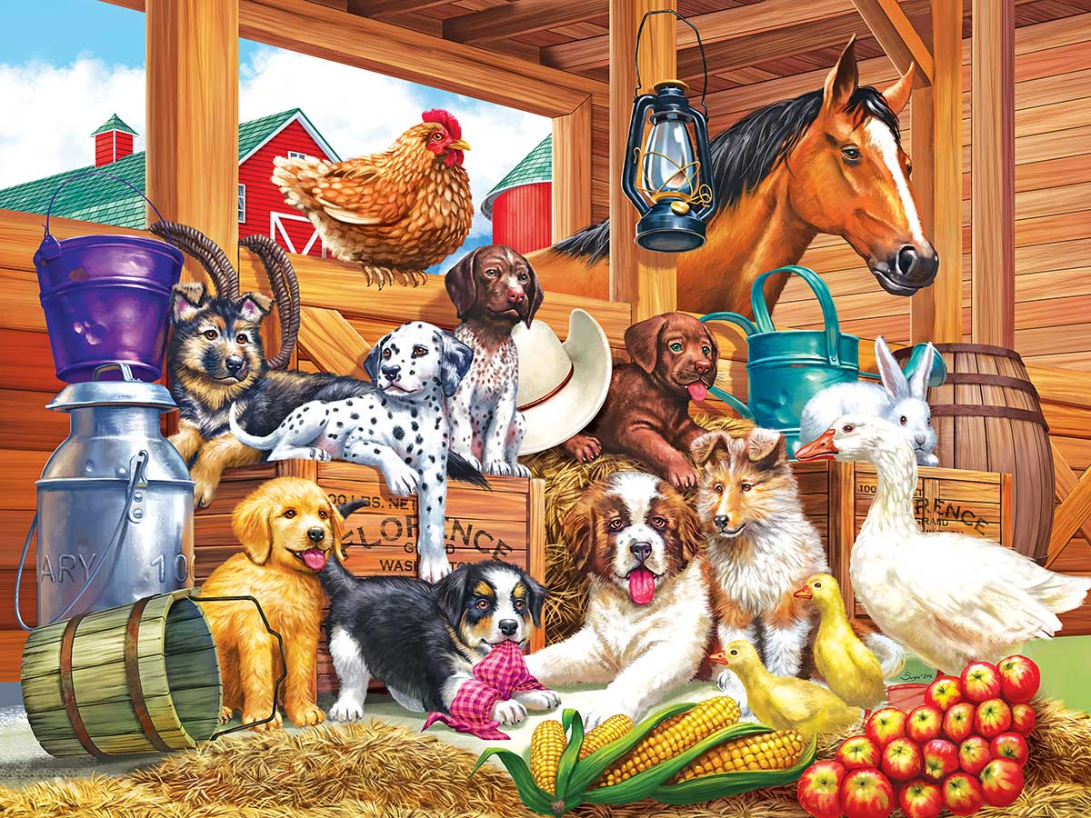 Barnyard Puppy Pals Farm Jigsaw Puzzle