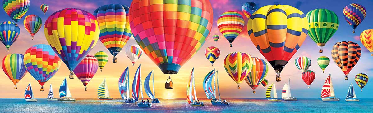 Summer Balloons And Boats Summer Jigsaw Puzzle