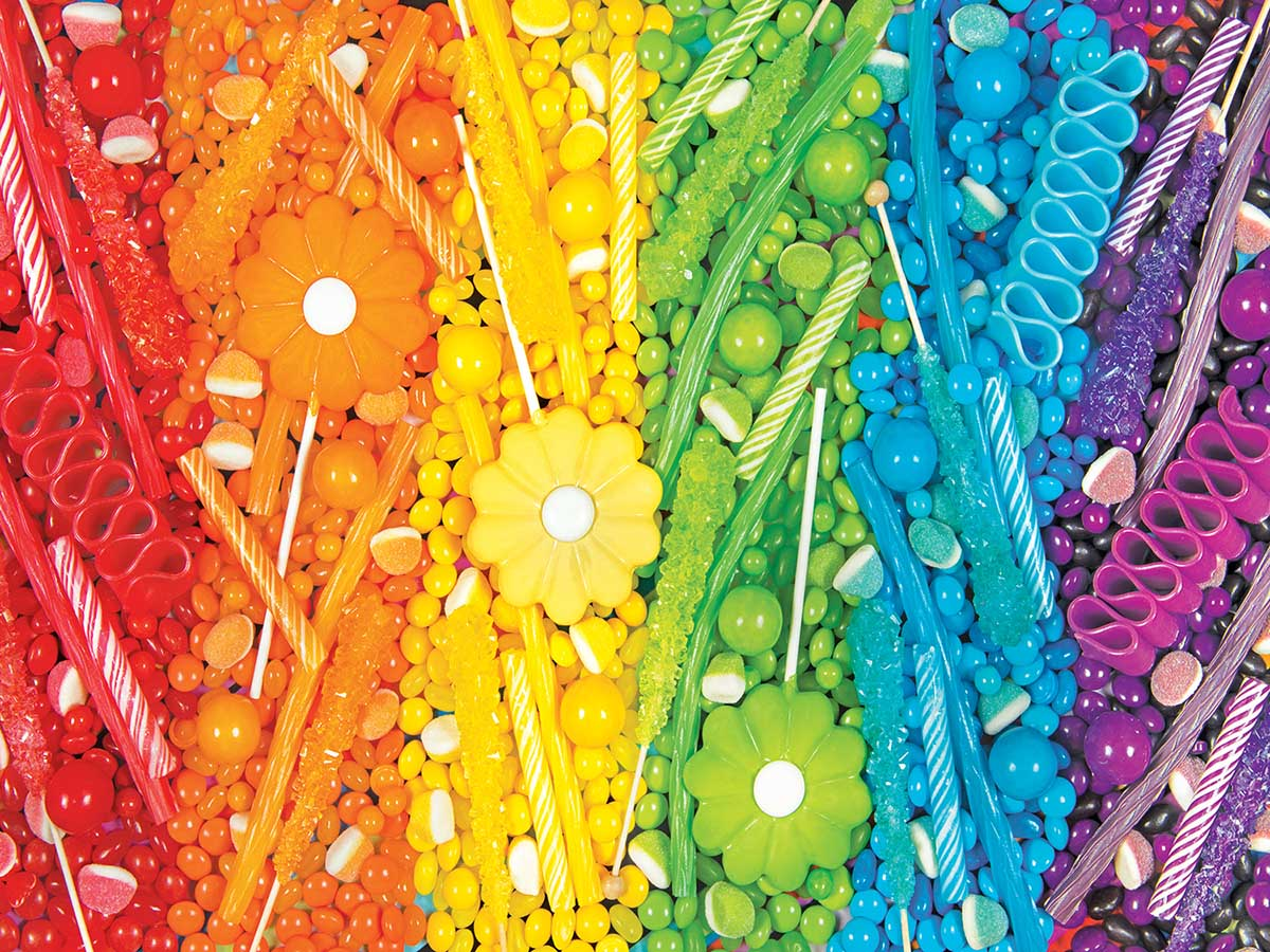 Rainbow Candy Sweets Jigsaw Puzzle