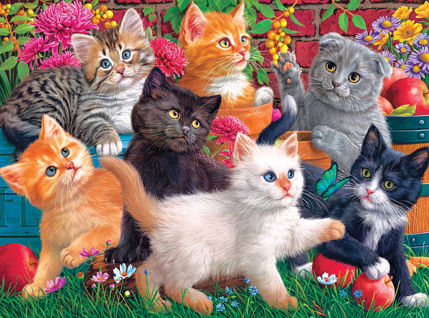 Kittens At Play Cats Jigsaw Puzzle