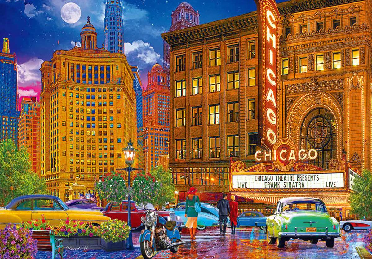 Chicago Nostalgic / Retro Jigsaw Puzzle