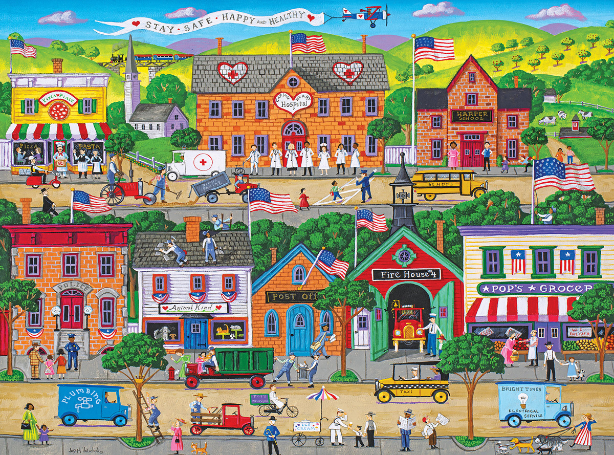 Hometown Heroes Americana & Folk Art Jigsaw Puzzle
