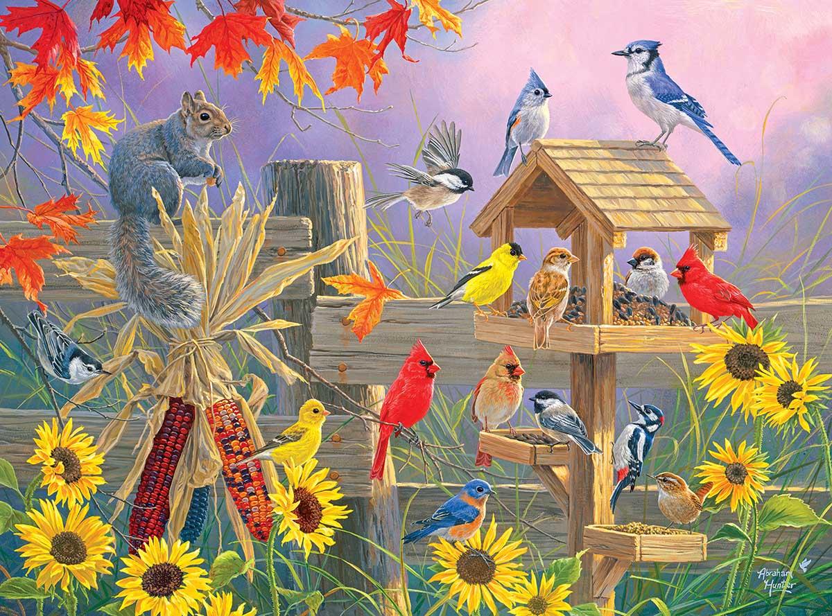 Autumn Gathering Birds Jigsaw Puzzle