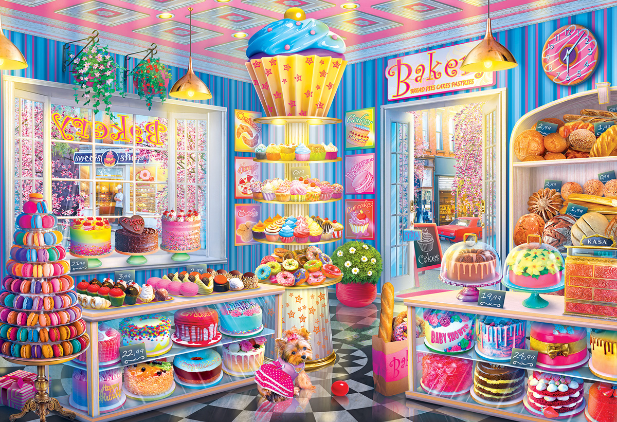 Main Street Bakery Food and Drink Jigsaw Puzzle