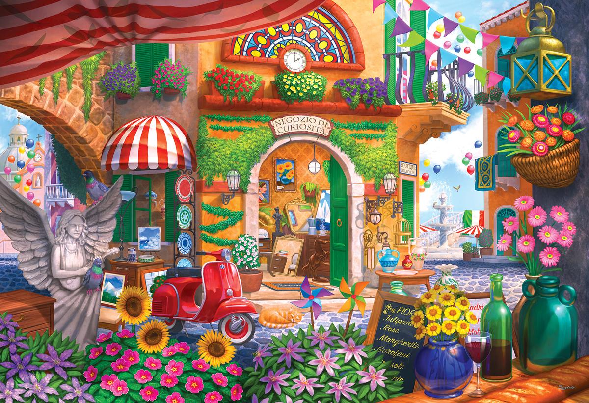 Little Italian Curiousity Shop Shopping Jigsaw Puzzle